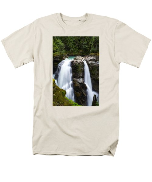 Nooksack Falls Men's T-Shirt  (Regular Fit) by Ryan Manuel