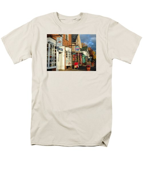 North Conway Village 2 Men's T-Shirt  (Regular Fit) by Nancy De Flon
