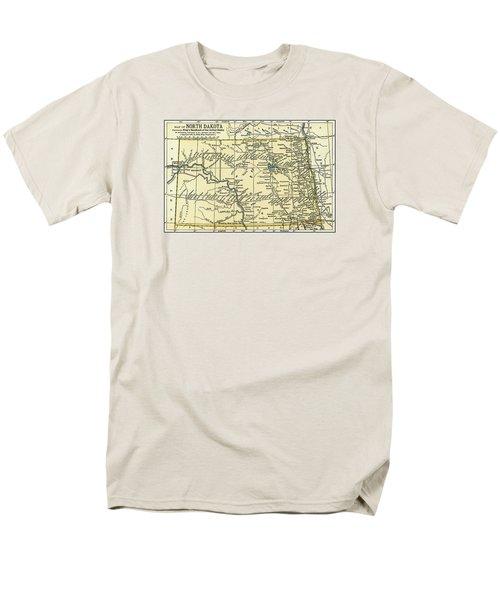 North Dakota Antique Map 1891 Men's T-Shirt  (Regular Fit) by Phil Cardamone