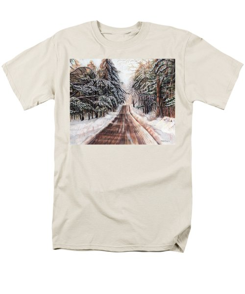 Northeast Winter Men's T-Shirt  (Regular Fit) by Shana Rowe Jackson