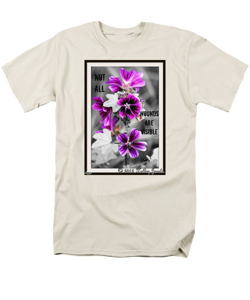 Men's T-Shirt  (Regular Fit) featuring the digital art Not All Wounds by Holley Jacobs