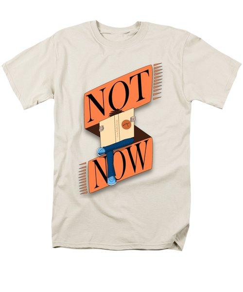 Not Now, I'm Reading Men's T-Shirt  (Regular Fit) by Cesar Padilla