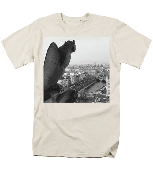 Men's T-Shirt  (Regular Fit) featuring the photograph Notre Dame Gargoyle by Victoria Lakes