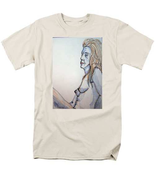 Nude With Blues Men's T-Shirt  (Regular Fit) by Rand Swift