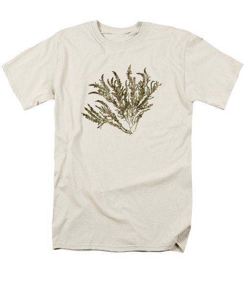 Men's T-Shirt  (Regular Fit) featuring the mixed media Ocean Seaweed Plant Art Ptilota Sericea Square by Christina Rollo