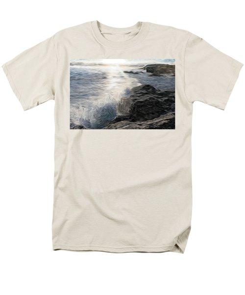 Ocean Splash Men's T-Shirt  (Regular Fit) by Carol Crisafi