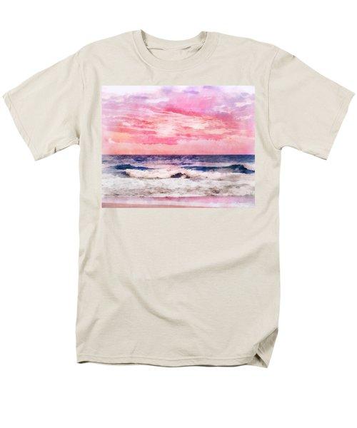 Men's T-Shirt  (Regular Fit) featuring the digital art Ocean Sunrise by Francesa Miller