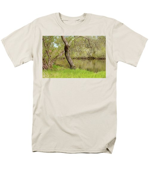 Men's T-Shirt  (Regular Fit) featuring the photograph Oceano Lagoon by Art Block Collections