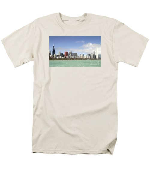 Off The Shore Of Chicago Men's T-Shirt  (Regular Fit) by Ricky L Jones