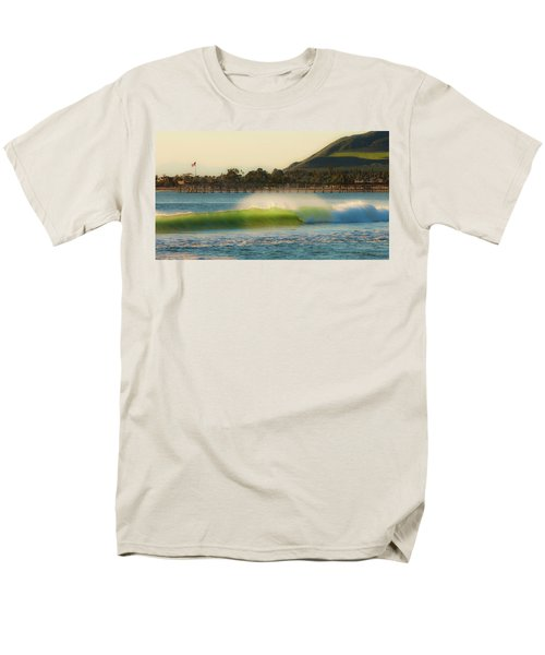 Men's T-Shirt  (Regular Fit) featuring the photograph Offshore Wind Wave And Ventura, Ca Pier by John A Rodriguez
