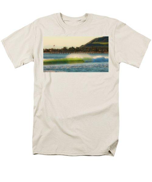 Offshore Wind Wave And Ventura, Ca Pier Men's T-Shirt  (Regular Fit)