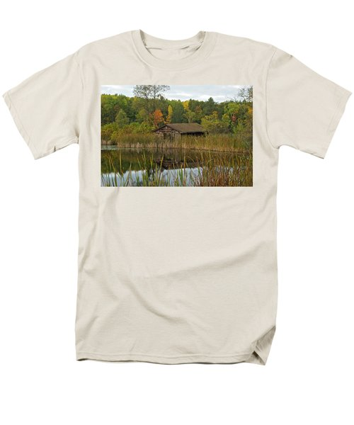 Old Bait Shop On Twin Lake_9626 Men's T-Shirt  (Regular Fit) by Michael Peychich