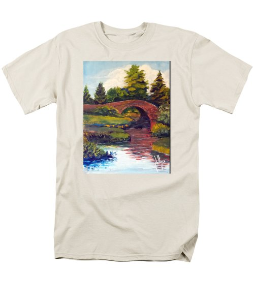 Old Red Stone Bridge Men's T-Shirt  (Regular Fit) by Jim Phillips