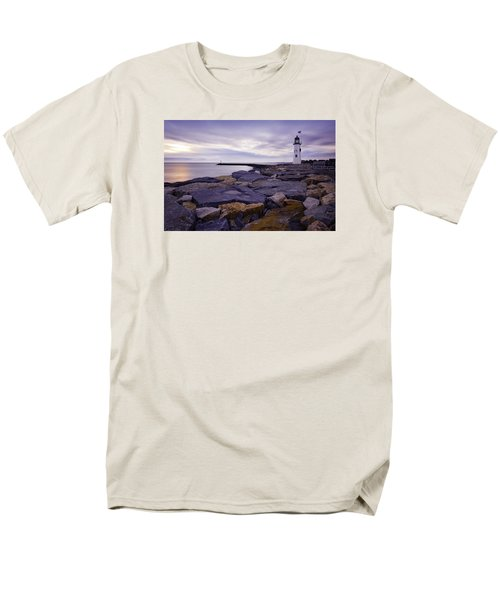 Old Scituate Light At Sunrise Men's T-Shirt  (Regular Fit) by Betty Denise