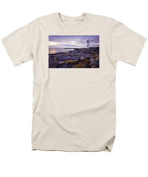 Old Scituate Light At Sunrise Men's T-Shirt  (Regular Fit) by Betty Denise