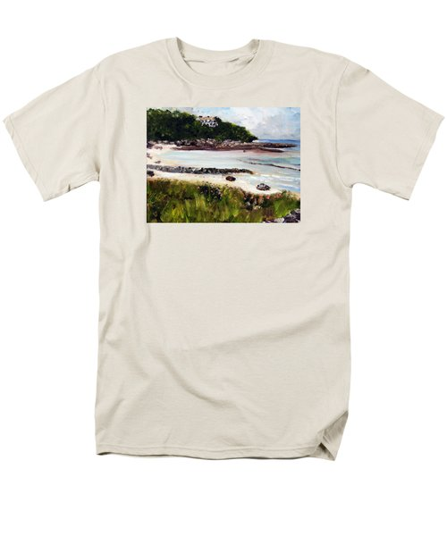 Old Silver Beach Falmouth Men's T-Shirt  (Regular Fit) by Michael Helfen