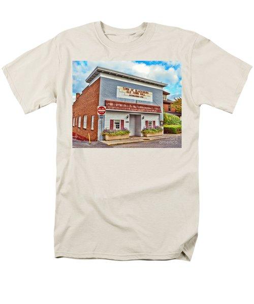 Old Town Hall Blacksburg Virginia Est 1798 Men's T-Shirt  (Regular Fit) by Kerri Farley