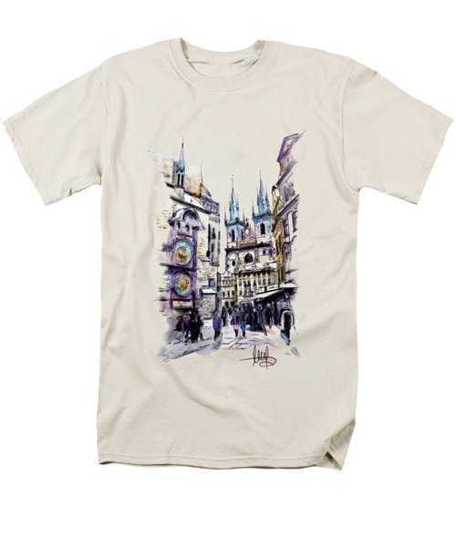 Old Town Square In Prague Men's T-Shirt  (Regular Fit) by Melanie D