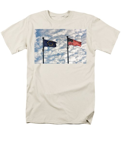 One World Men's T-Shirt  (Regular Fit) by Semmick Photo
