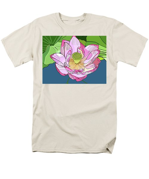 Open Lotus Men's T-Shirt  (Regular Fit) by Jamie Downs