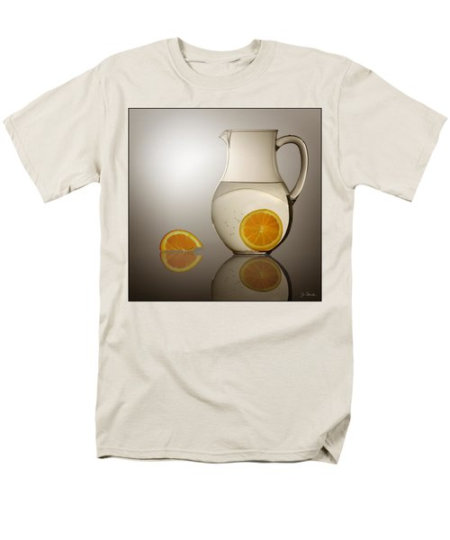 Men's T-Shirt  (Regular Fit) featuring the photograph Oranges And Water Pitcher by Joe Bonita