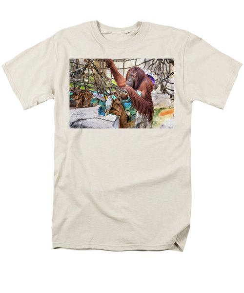 Orangutan In Rope Net Men's T-Shirt  (Regular Fit) by Stephanie Hayes