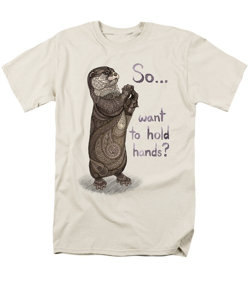 Otter Valentine Men's T-Shirt  (Regular Fit) by ZH Field