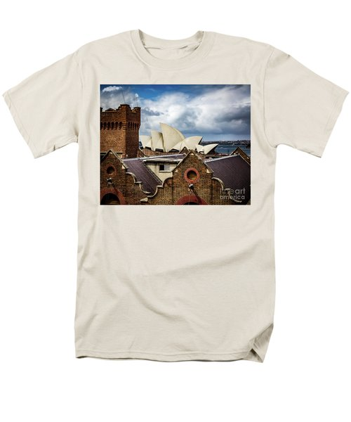Men's T-Shirt  (Regular Fit) featuring the photograph Over The Roof Tops by Perry Webster