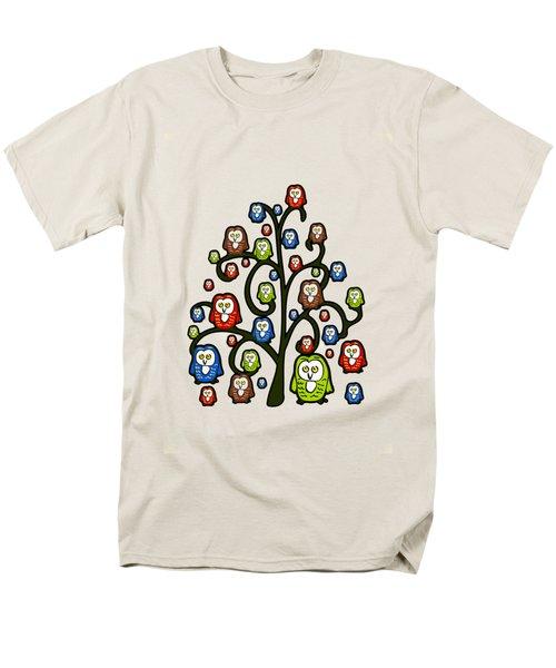 Owl Tree Men's T-Shirt  (Regular Fit) by Anastasiya Malakhova