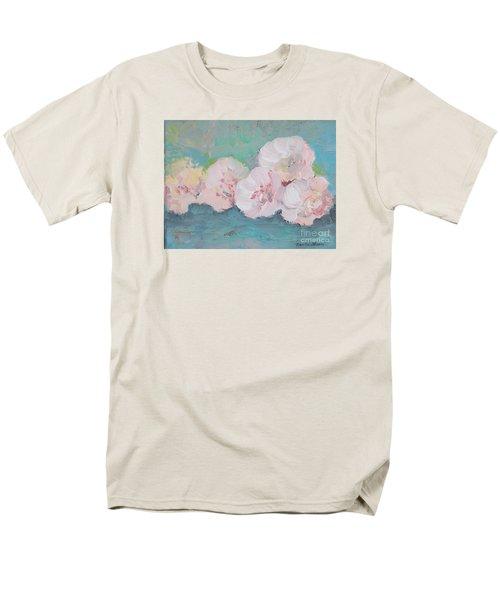 Pale Pink Peonies Men's T-Shirt  (Regular Fit) by Robin Maria Pedrero