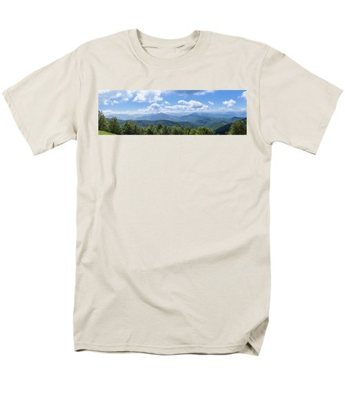 Men's T-Shirt  (Regular Fit) featuring the photograph Panorama Of The Foothills Of The Pyrenees In Biert by Semmick Photo
