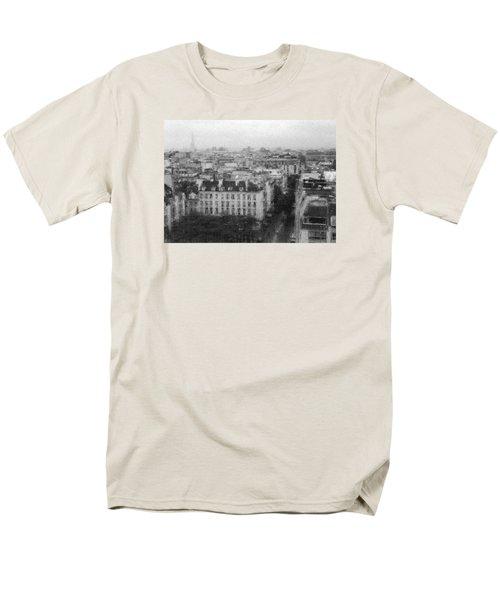Paris In The Rain  Men's T-Shirt  (Regular Fit) by Dubi Roman