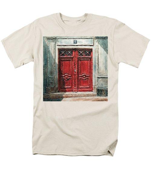 Parisian Door No.9 Men's T-Shirt  (Regular Fit)
