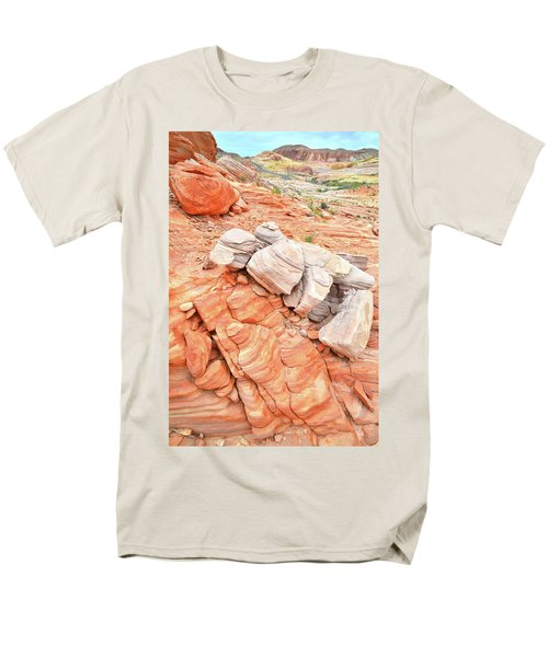 Men's T-Shirt  (Regular Fit) featuring the photograph Park Road Sandstone In Valley Of Fire by Ray Mathis