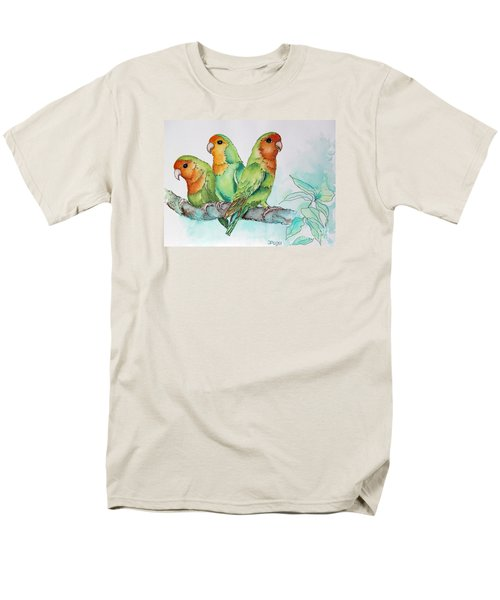 Parrots Trio Men's T-Shirt  (Regular Fit) by Inese Poga