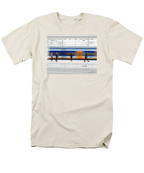 Passing Train Men's T-Shirt  (Regular Fit) by Pedro L Gili