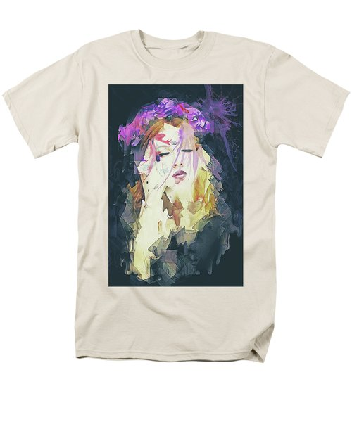 Path Abstract Portrait Men's T-Shirt  (Regular Fit) by Galen Valle