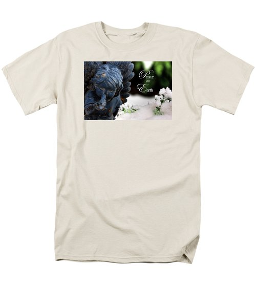 Men's T-Shirt  (Regular Fit) featuring the photograph Peace On Earth Angel by Shelley Neff