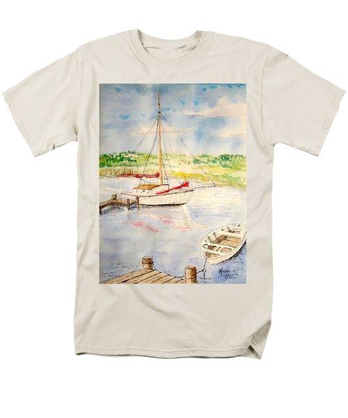 Peaceful Harbor Men's T-Shirt  (Regular Fit) by Marilyn Zalatan