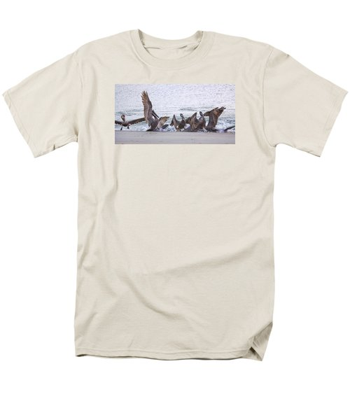 Men's T-Shirt  (Regular Fit) featuring the photograph Pelican Brunch by Patricia Schaefer