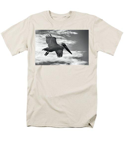 Pelican In Flight Men's T-Shirt  (Regular Fit) by AJ Schibig