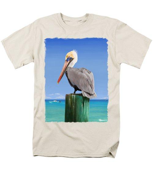 Pelicans Post Men's T-Shirt  (Regular Fit) by Kevin Putman