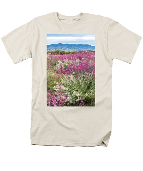 Penstemon At Black Hills Men's T-Shirt  (Regular Fit) by Karen Stephenson