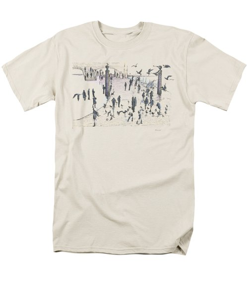 People And Birds, 19 December, 2015 Men's T-Shirt  (Regular Fit) by Tatiana Chernyavskaya