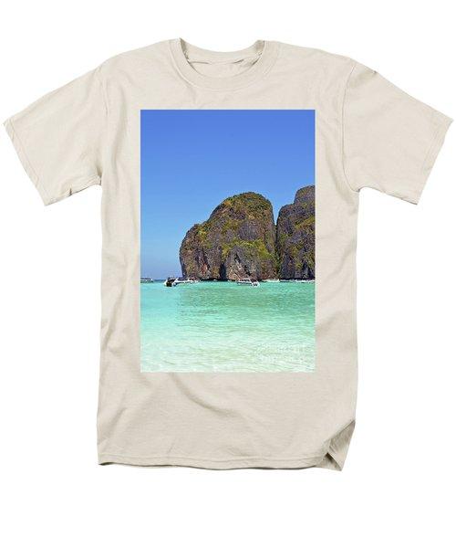 Men's T-Shirt  (Regular Fit) featuring the digital art Phi Phi Islands by Eva Kaufman