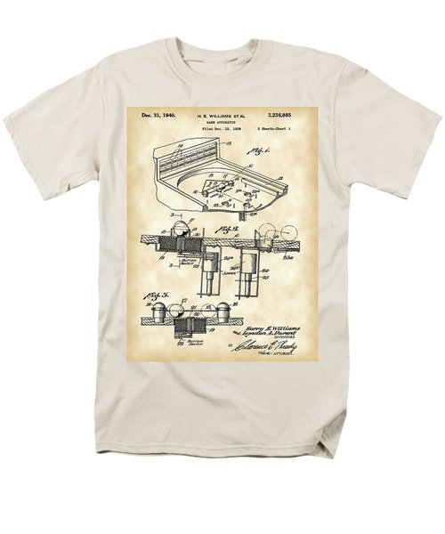 Pinball Machine Patent 1939 - Vintage Men's T-Shirt  (Regular Fit) by Stephen Younts