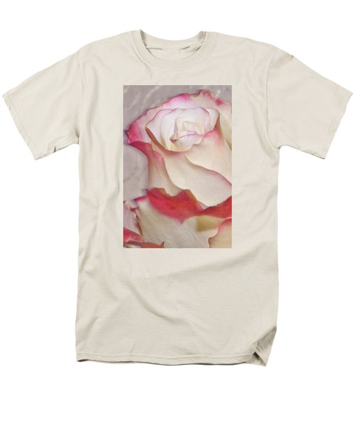 Pink And White Rose Men's T-Shirt  (Regular Fit) by Sandra Foster