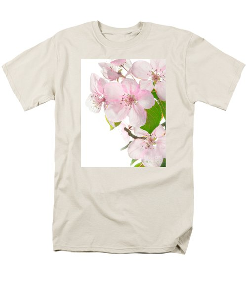 Pink Crabapple Blissoms Men's T-Shirt  (Regular Fit) by David Perry Lawrence