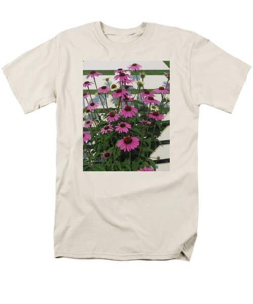Pink On The Fence Men's T-Shirt  (Regular Fit) by Jeanette Oberholtzer
