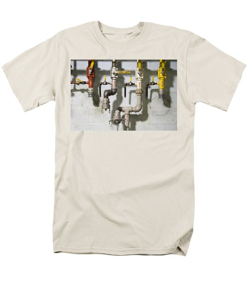 Pipes And Valves Men's T-Shirt  (Regular Fit) by Alexey Stiop